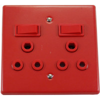 4x4 DOUBLE SWITCH SOCKET NO COVER - DEDICATED