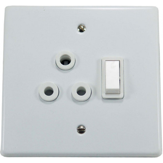 4x4 SINGLE SWITCH SOCKET NO COVER