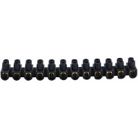 6A STRIP CONNECTOR BLACK (P/STRIP)