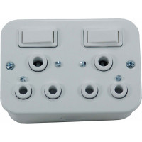 DOUBLE INDUSTRIAL SWITCH SOCKET 16A