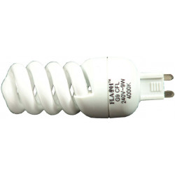 G9 9W SPIRAL ENERGY SAVER (HALOGEN REPLACEMENT)