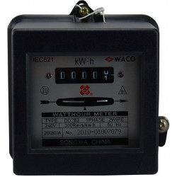 SINGLE PHASE KW HOUR METER 80A